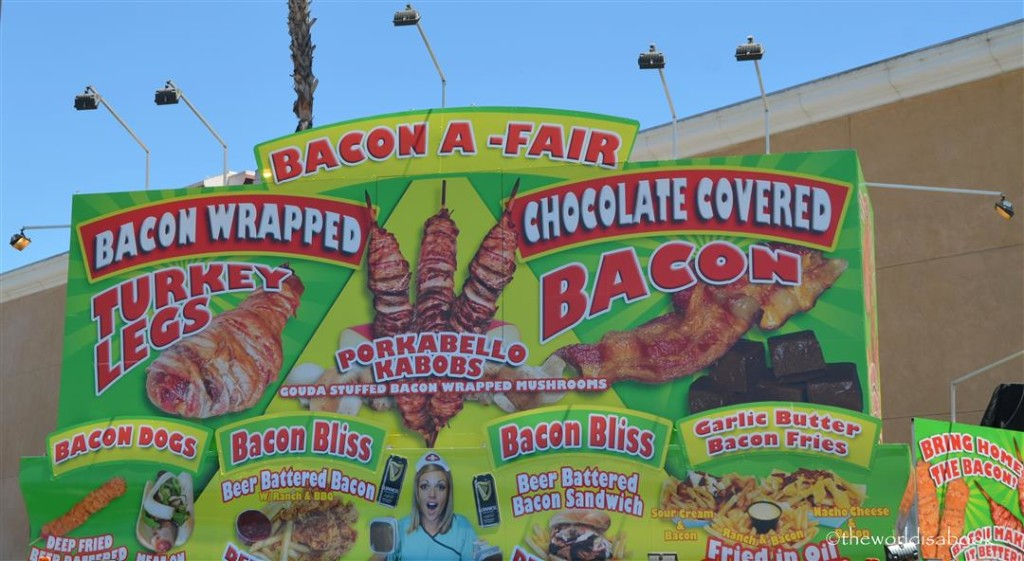 San Diego County Fair Bacon menu