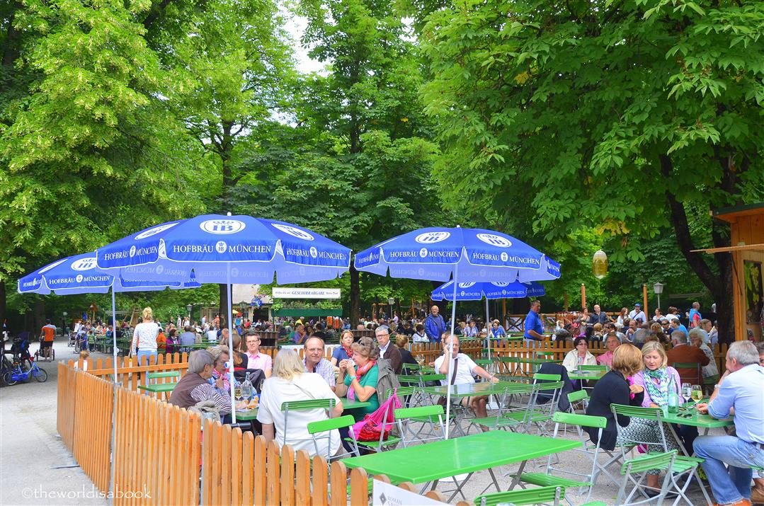Beer garden Munich