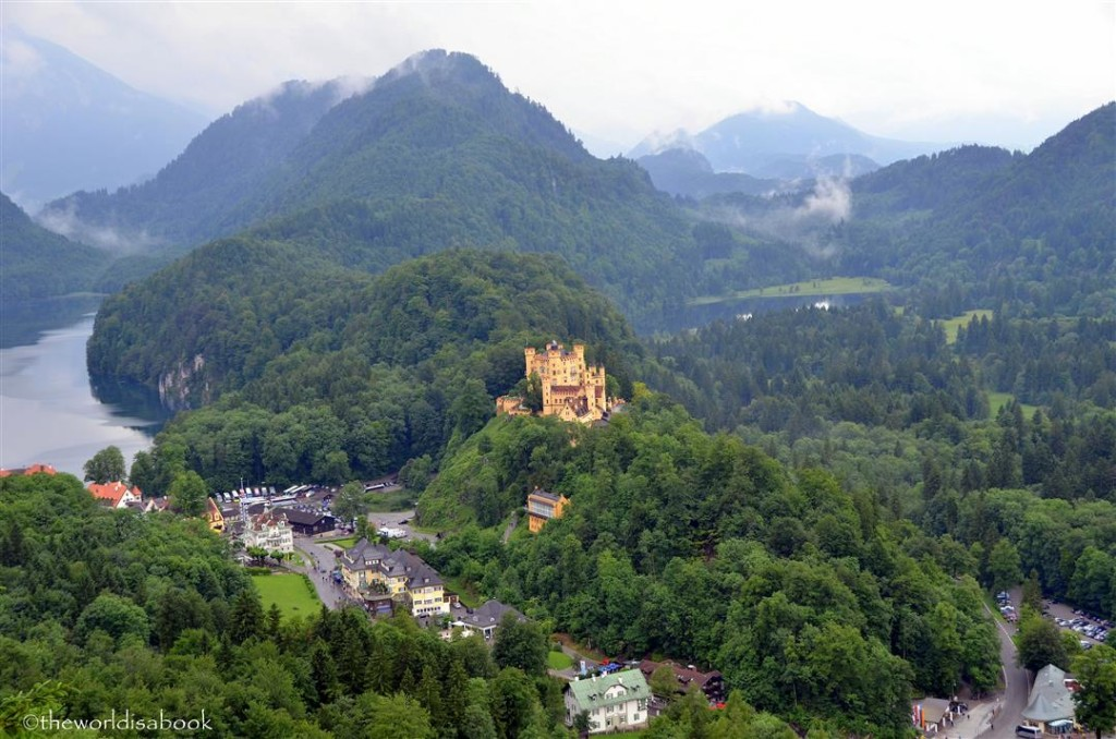 Hohenschwangau Palace and town