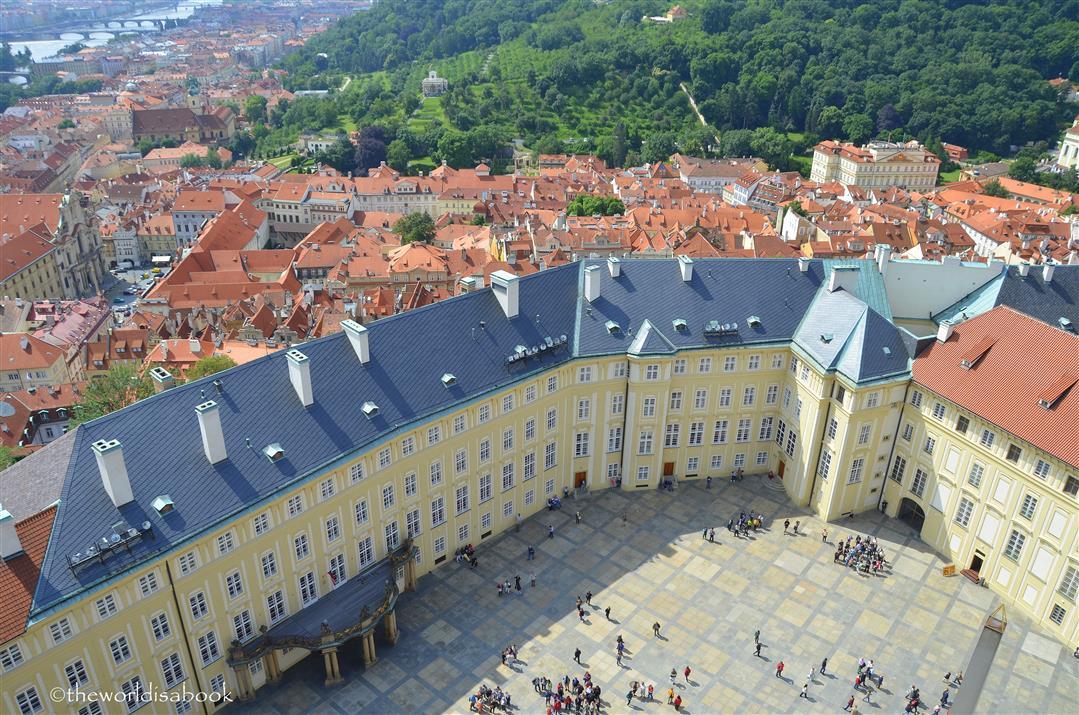 Prague castle below
