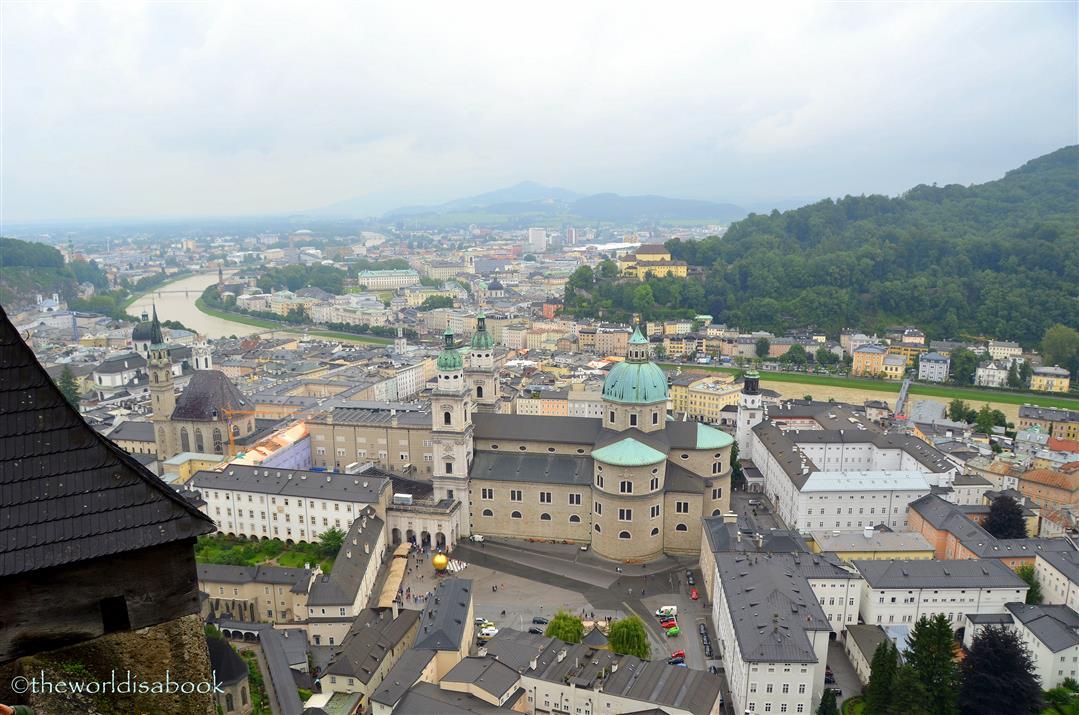 Salzburg Old Town view
