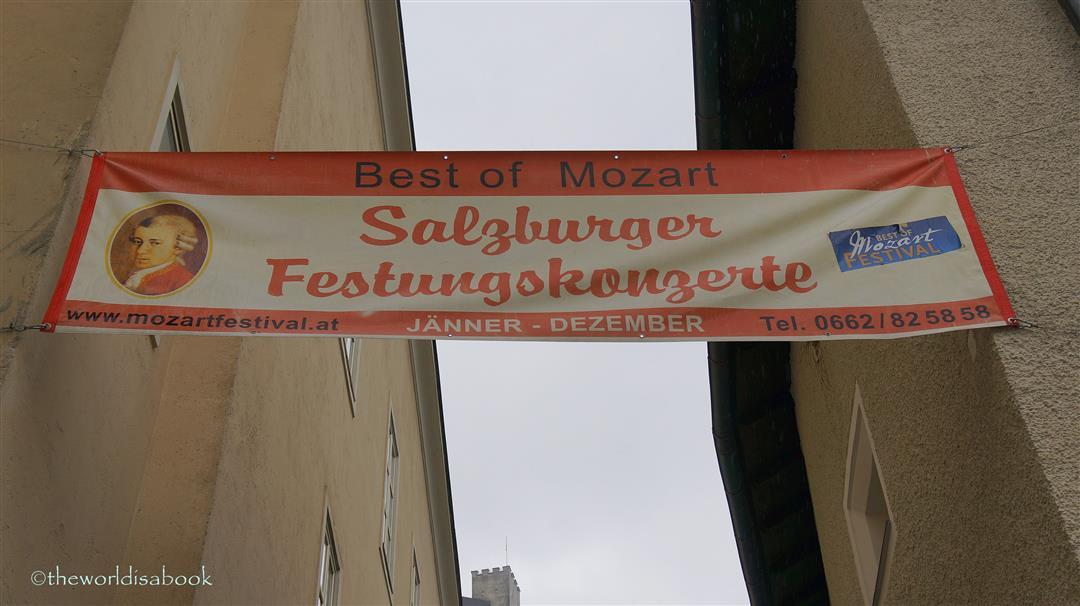 Mozart festival sign