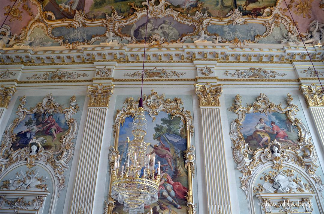 Nymphenburg Audience Hall walls