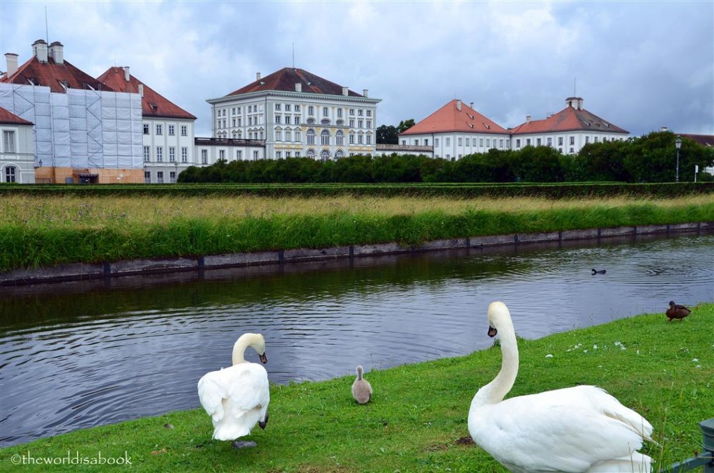 Nymphenburg Palace with swans