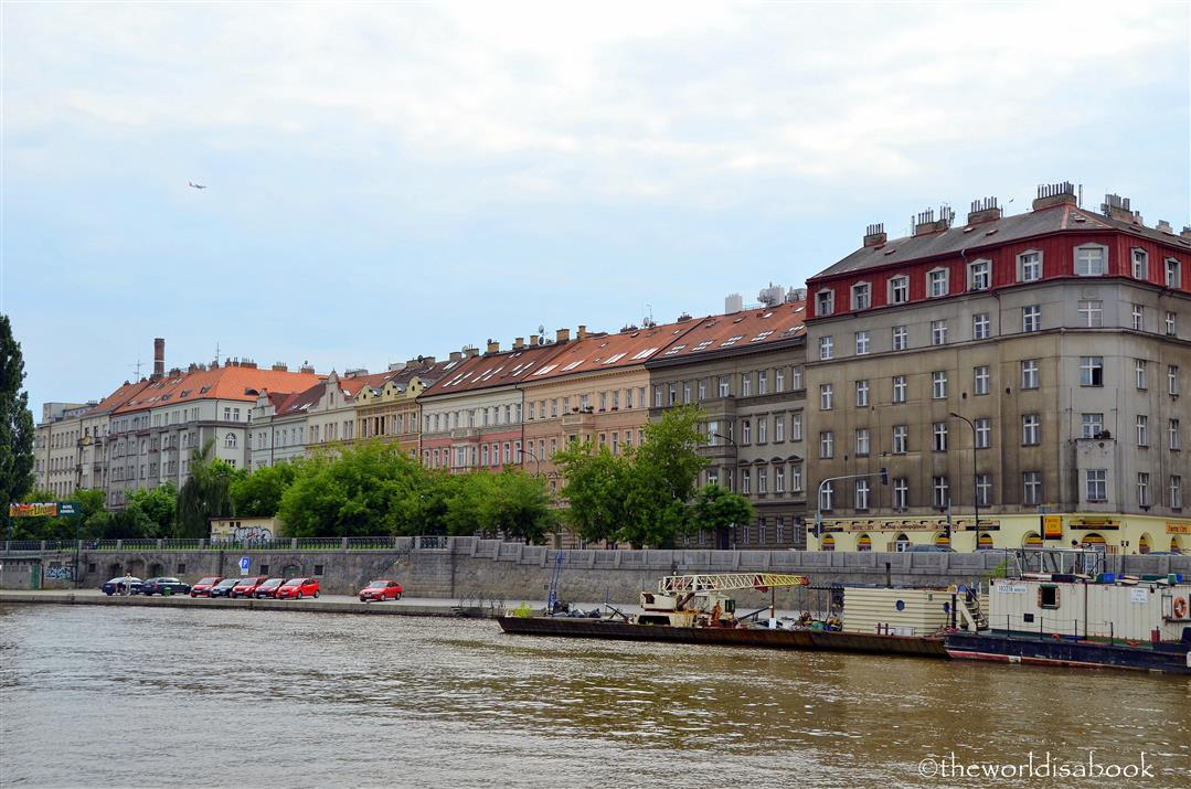 Prague river bank