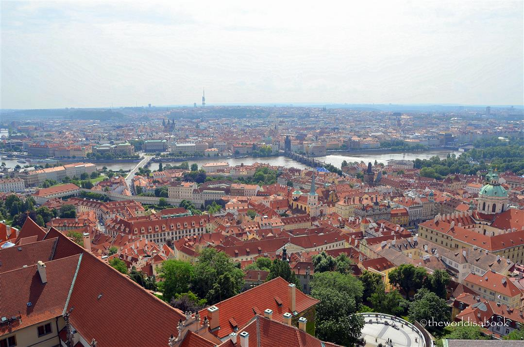Prague view from above