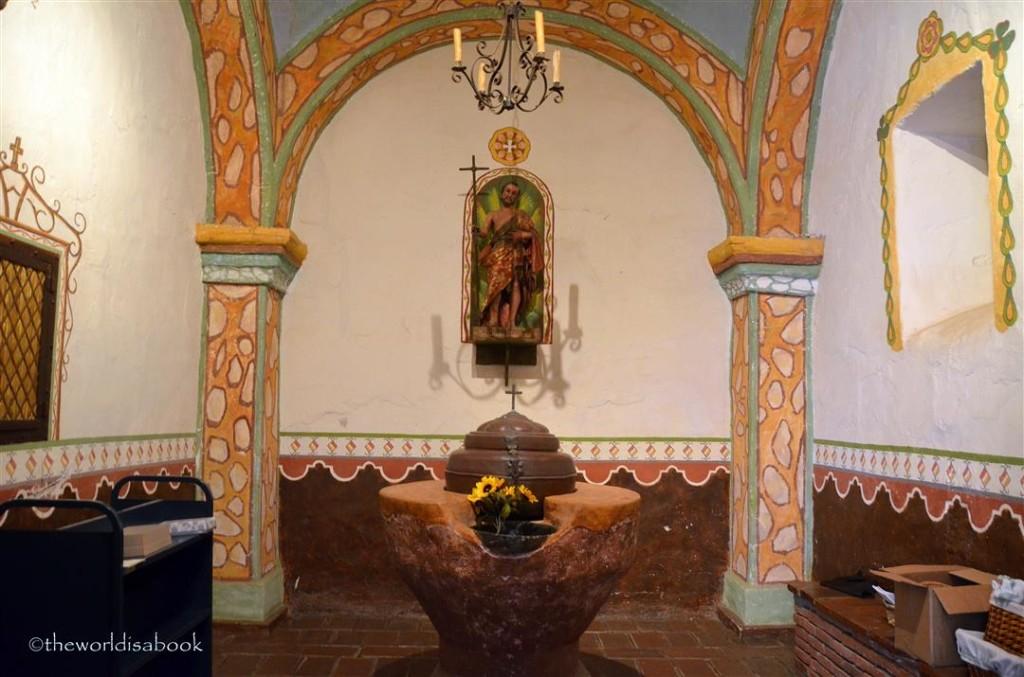 Mission San Luis Rey baptismal font