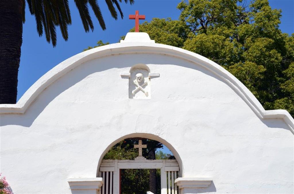 Mission San Luis Rey cemetery gate