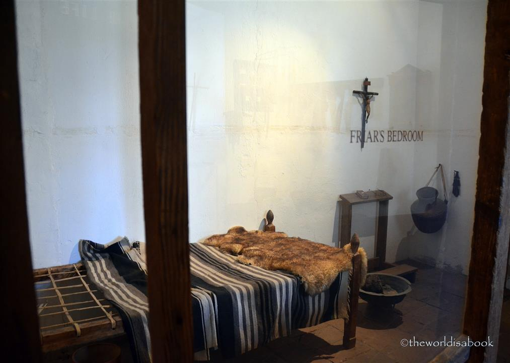 Mission San Luis Rey friar bedroom