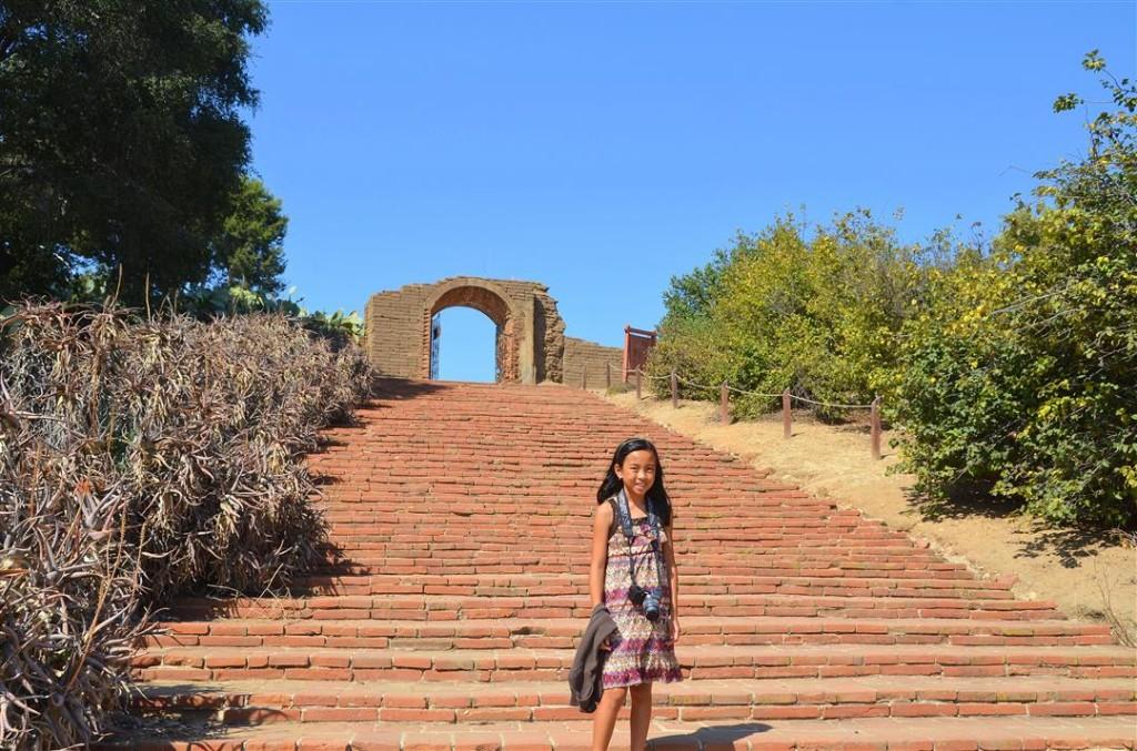 Mission San Luis Rey lavanderia stairs
