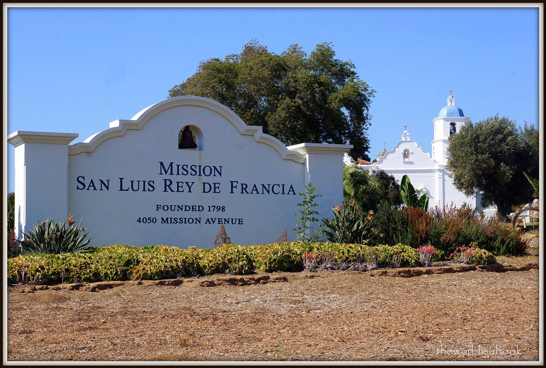 Mission San Luis Rey sign