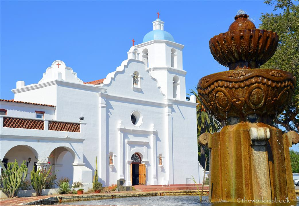 Old Mission San Luis Rey fountain