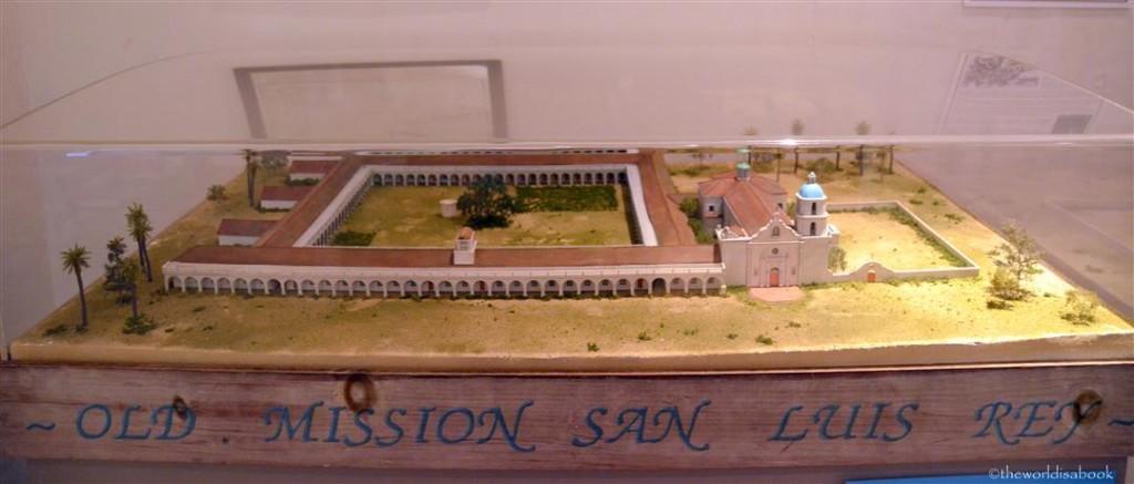 Old Mission San Luis Rey model