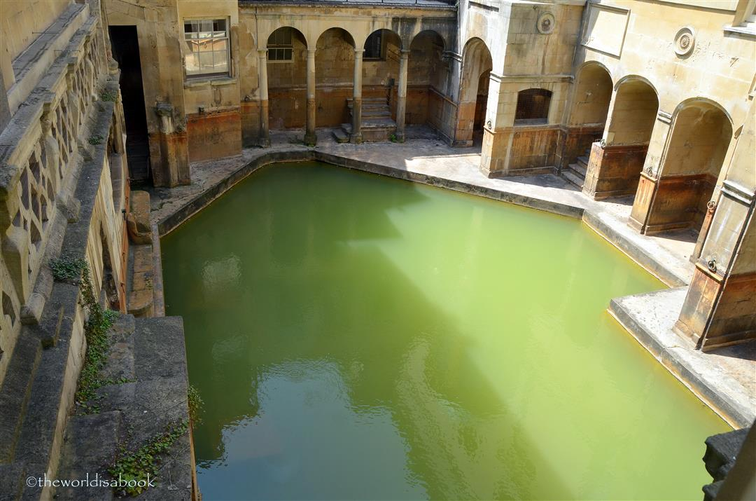 A step back in time at the roman baths bath england the for Spring bathrooms
