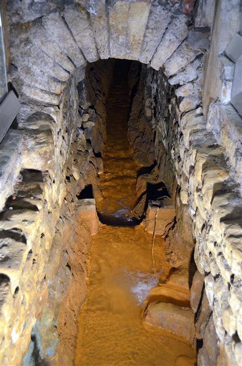 Roman baths drain
