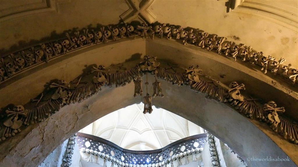 Bone Church arch decorations