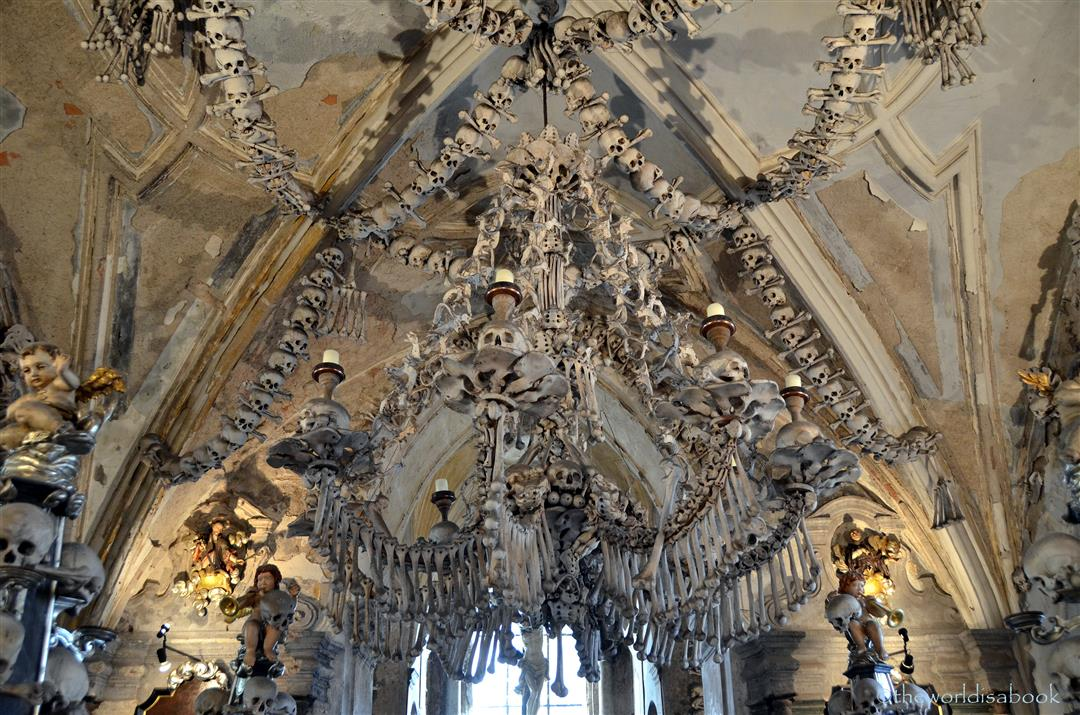 Church of bones artistry in the czech republic the world is a book bone church chandelier aloadofball Image collections