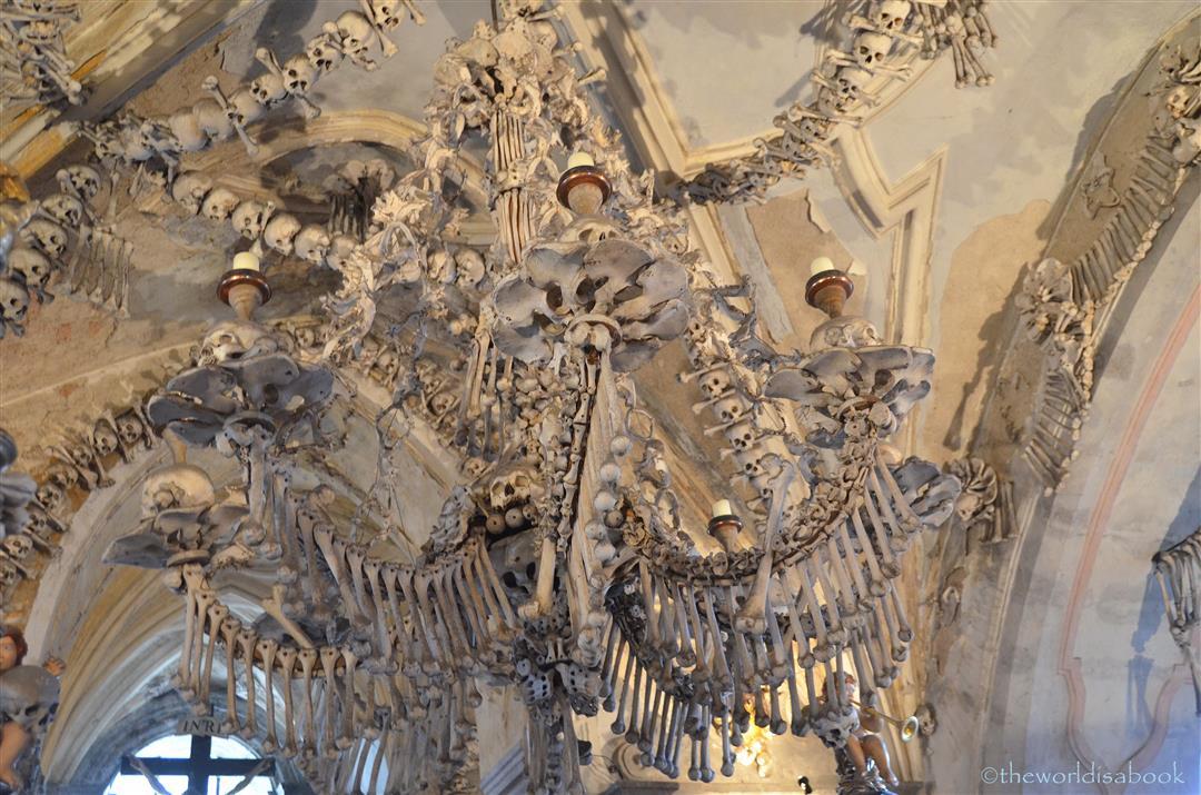 Bone church chandelier sedlec