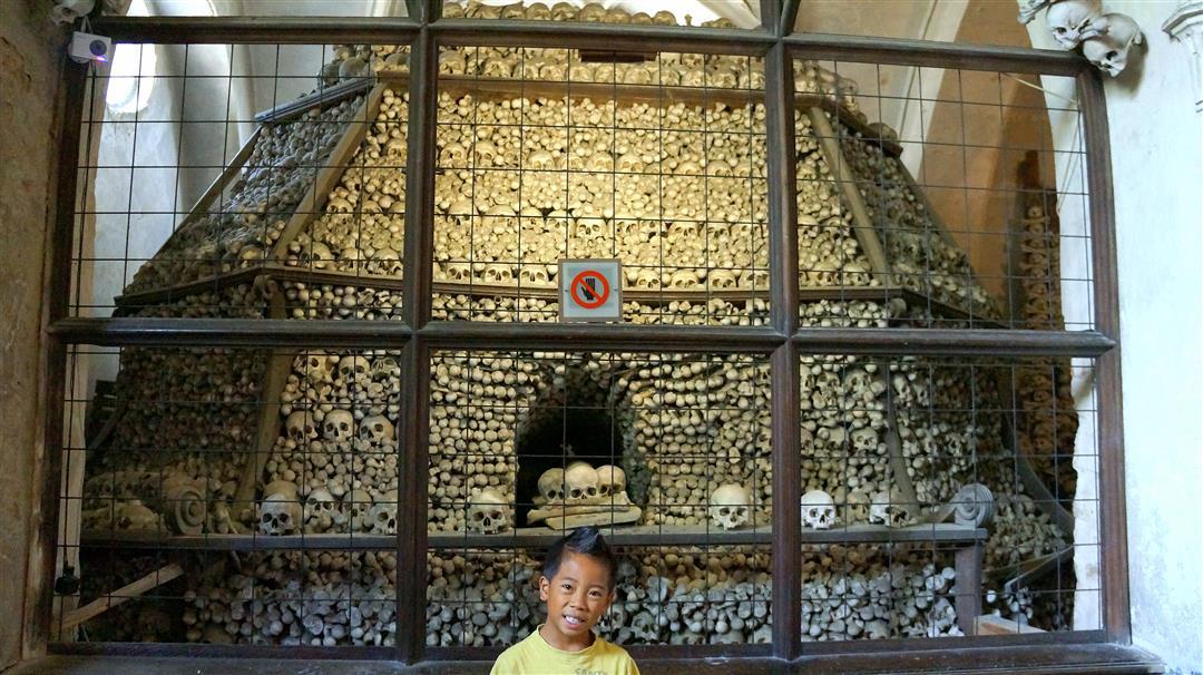 Bone church with kids