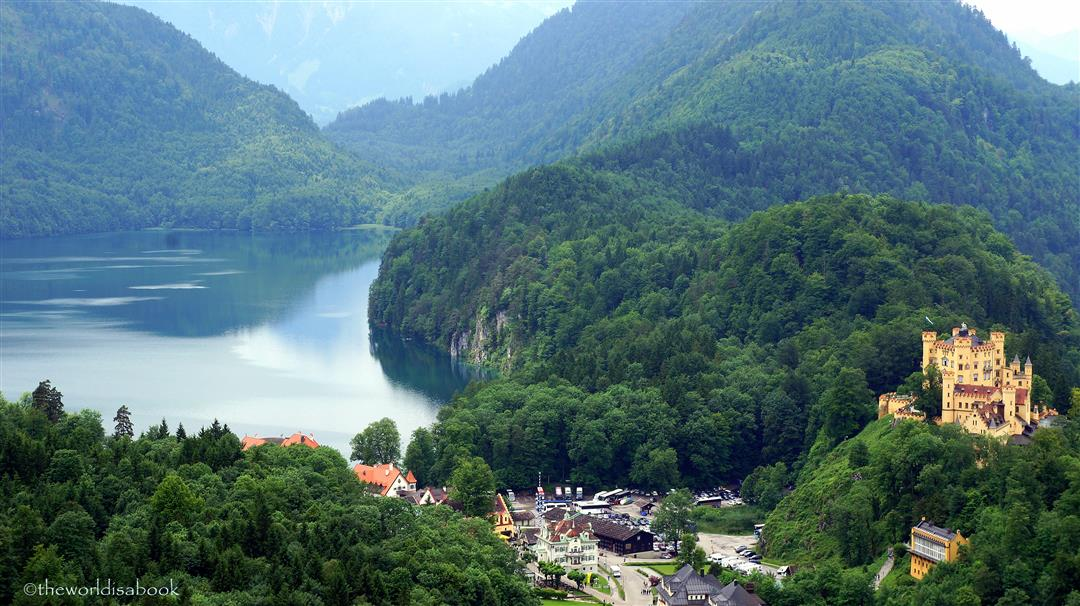 Hohenschwangau and Lake Alpsee