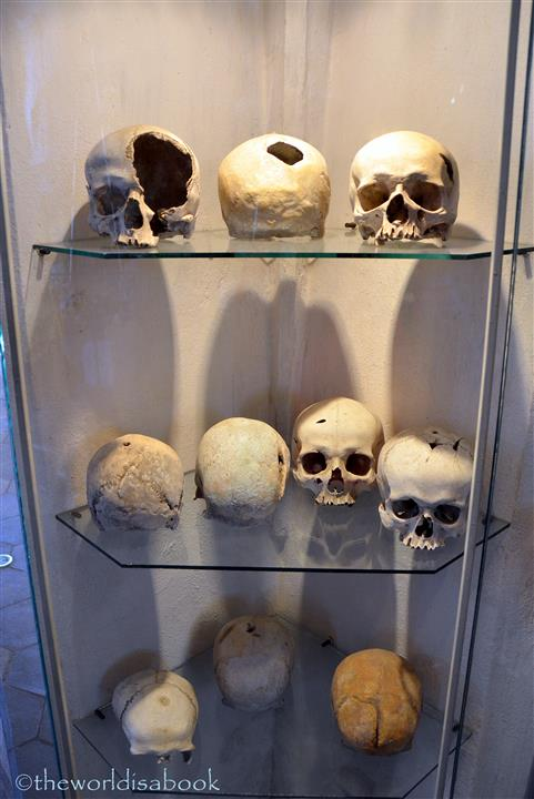 Hussite warrior skulls bone church