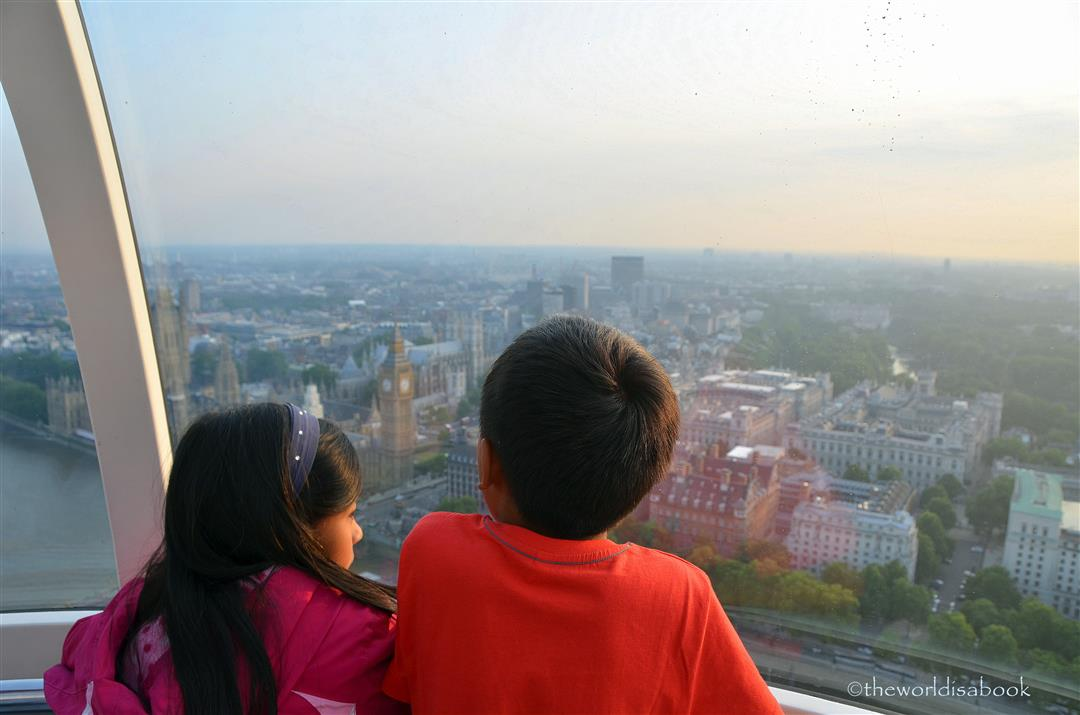 London Eye Capsule with kids