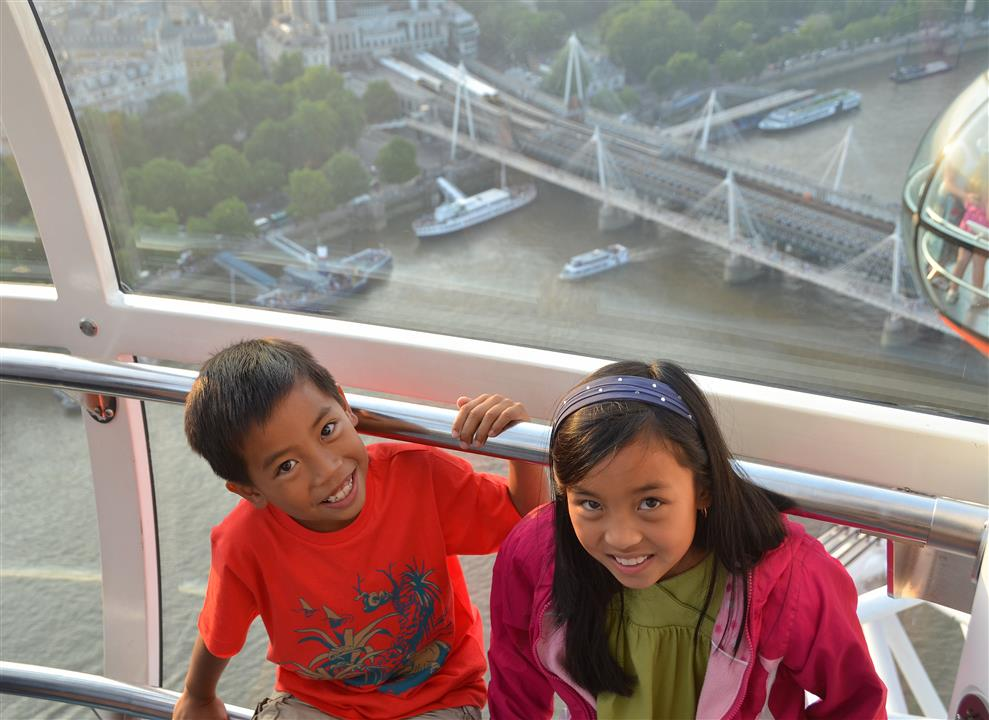 London Eye with kids
