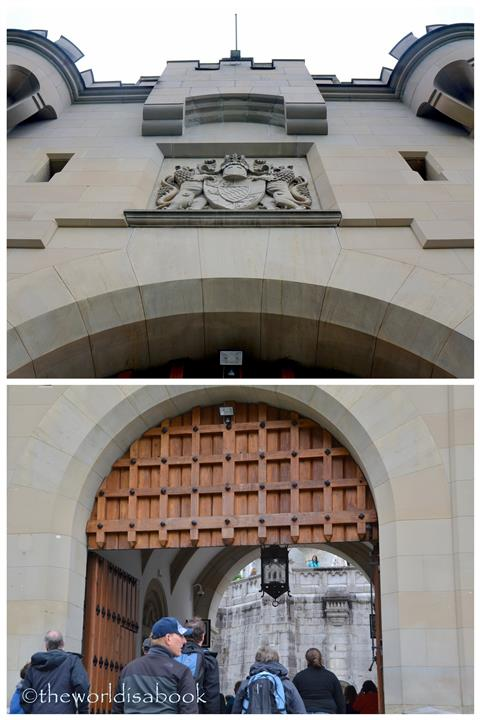 Neuschwanstein castle entrance