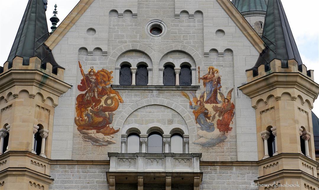 Neuschwanstein castle mural