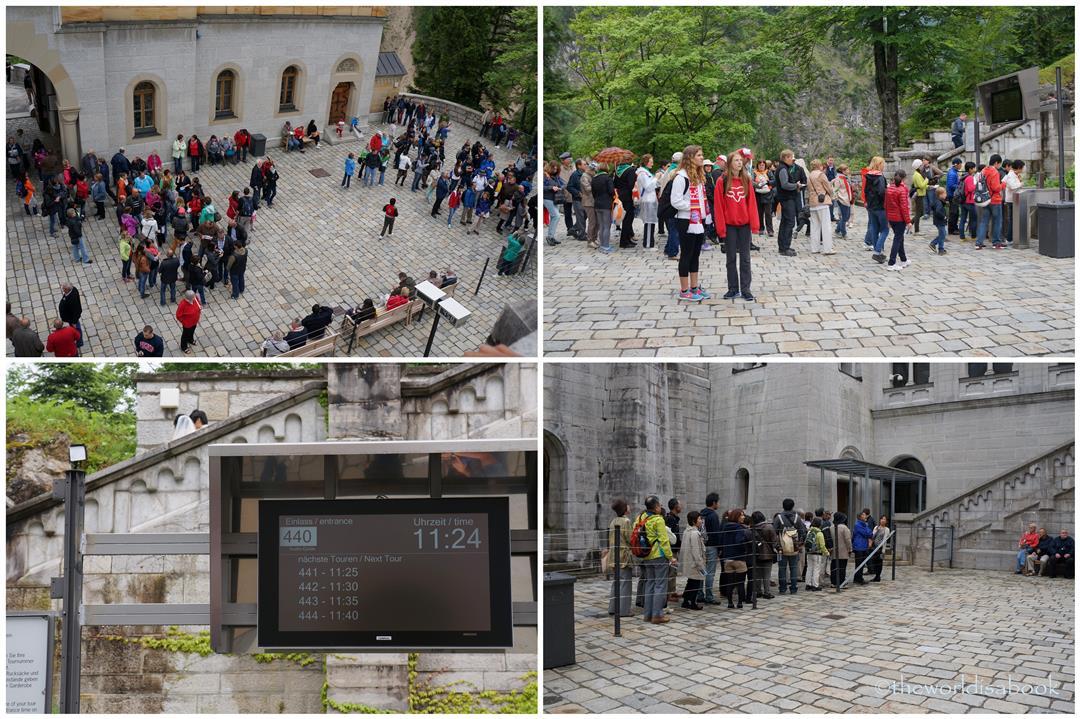 Neuschwanstein tour lines