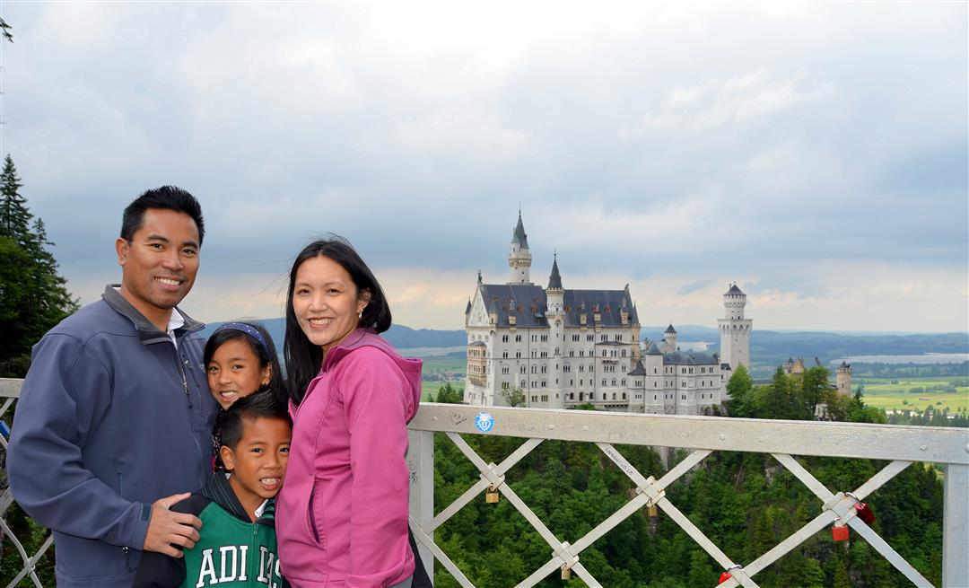 Neuschwanstein with kids