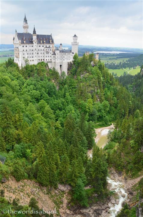 Neuschwanstein castle ravine