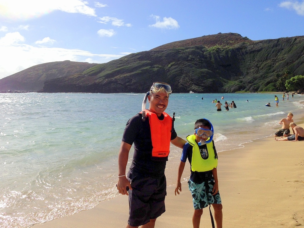 hanauma bay with kids