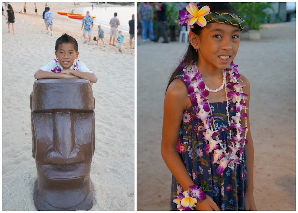 Hawaiian luau with kids