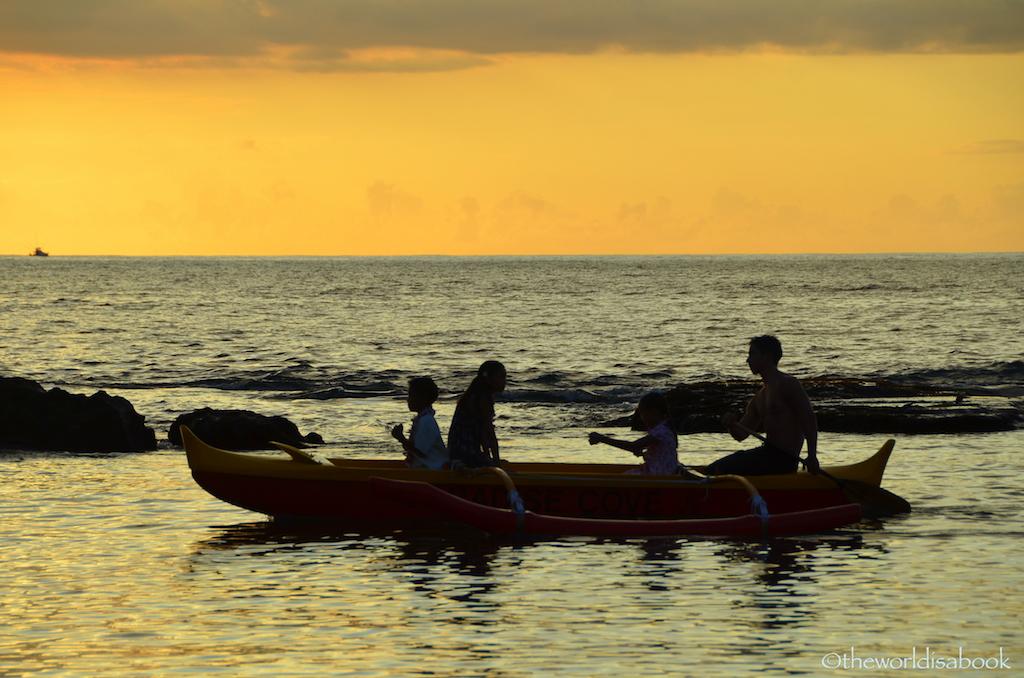 Paradise Cove canoe