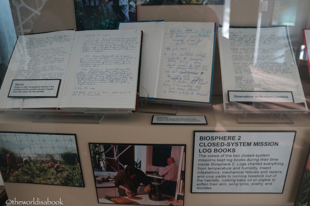 Biosphere 2 log books