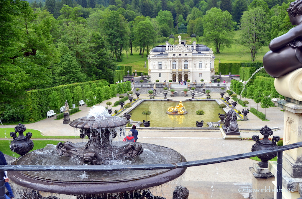 Linderhof Palace with kids