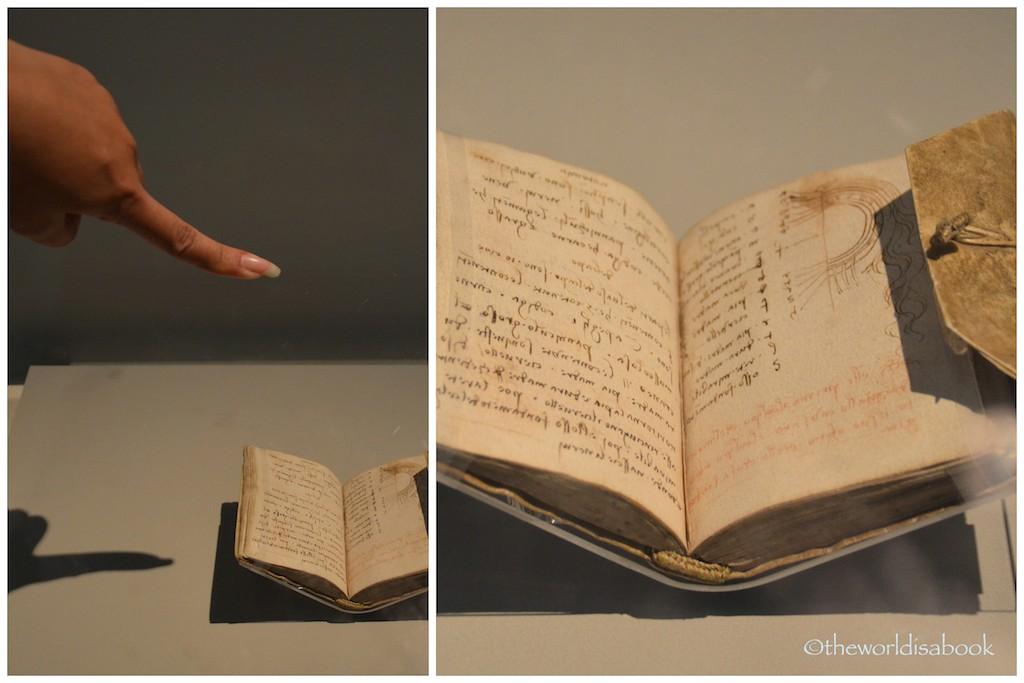 V&A Museum Davinci Notebook