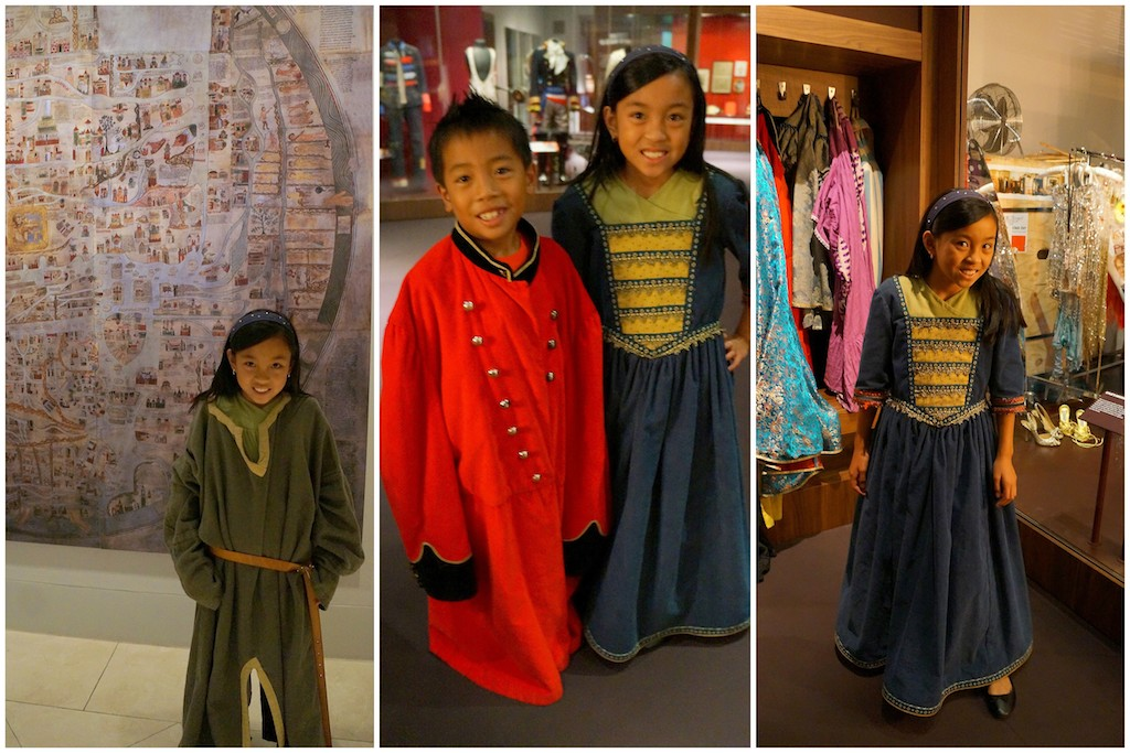 Victoria & Albert Museum dress-up wth kids