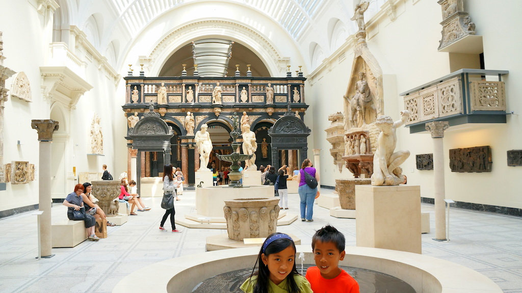 Victoria and Albert Museum with kids