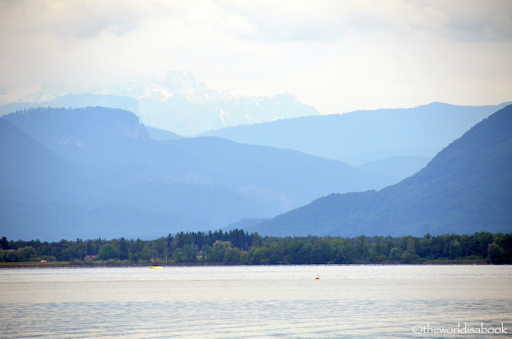 Lake Chiemsee mountains