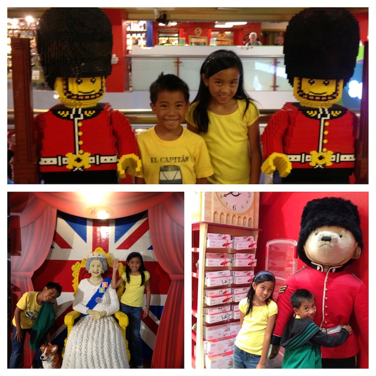 London with kids Hamleys