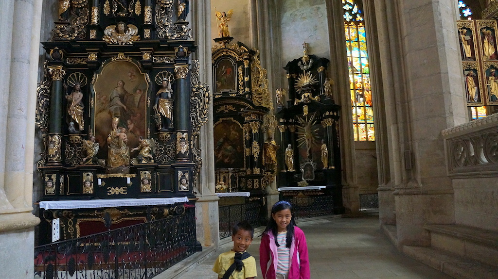 ST Barbara Kutna Hora with kids