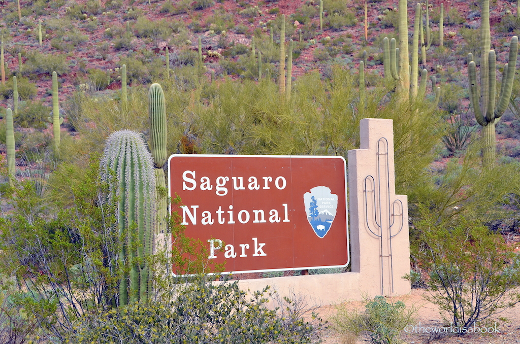 Saguaro National Park Camping Map Saguaro National Park Sign