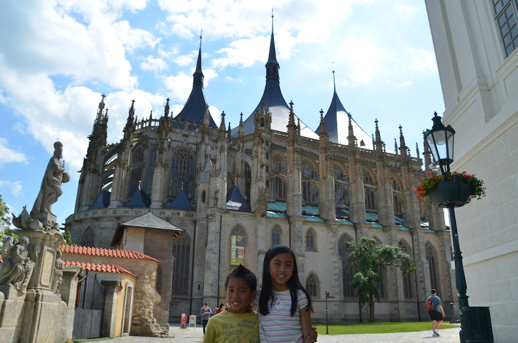 St Barbara Cathedral Kutna Hora with kids