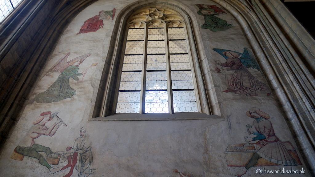 St Barbara miner frescoes Kutna hora