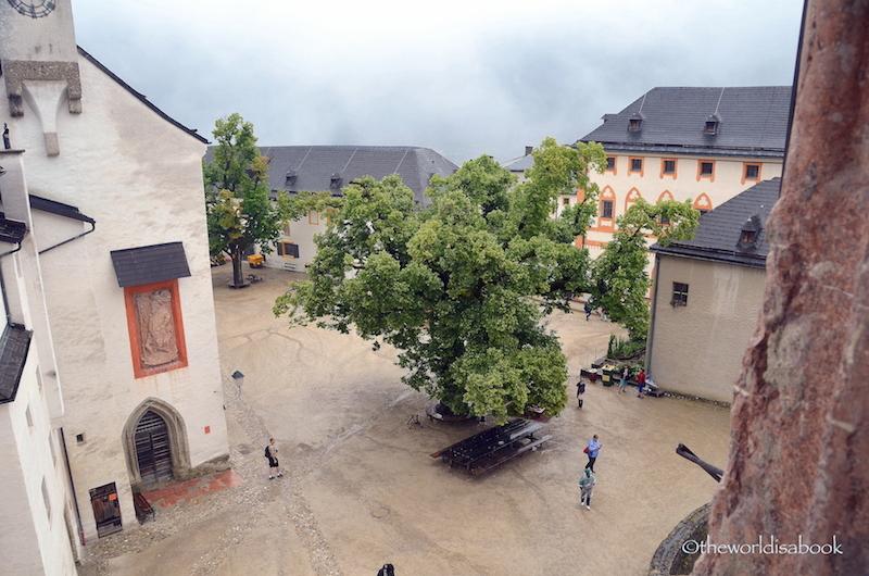 Hohensalzburg Fortress courtyard