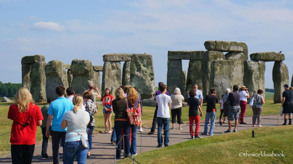 Stonehenge with tourists