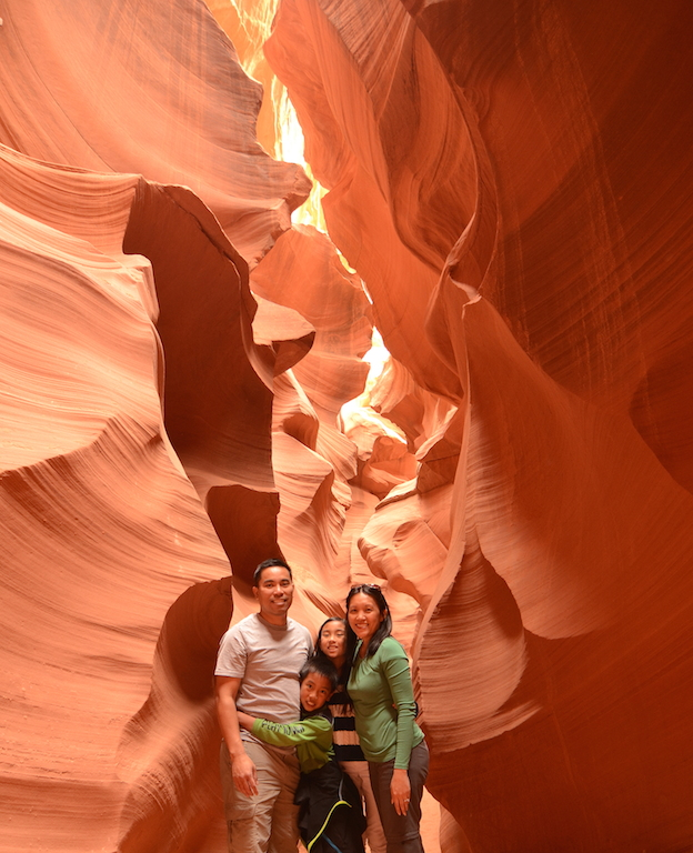 Lower Antelope Canyon with kids