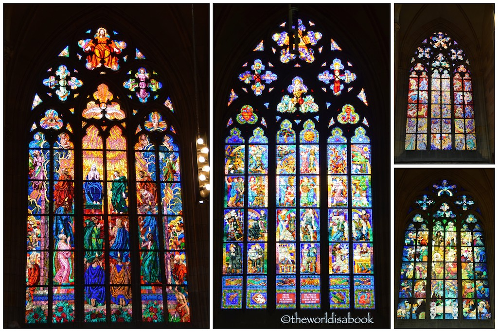 St Vitus Cathedral stained glass windows